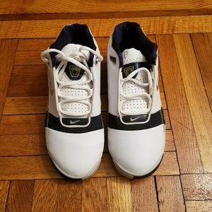 Nike Navy Blue/White Sneakers - Big Kids 6